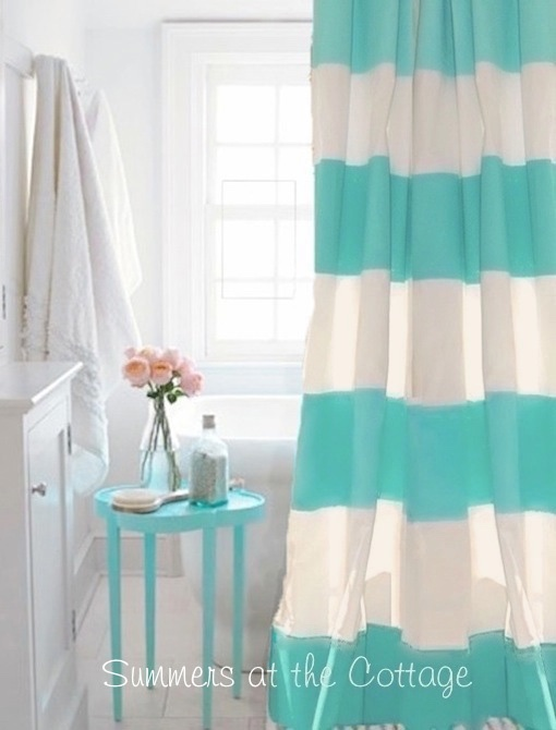 Aqua Cabana Stripe Shower Curtain