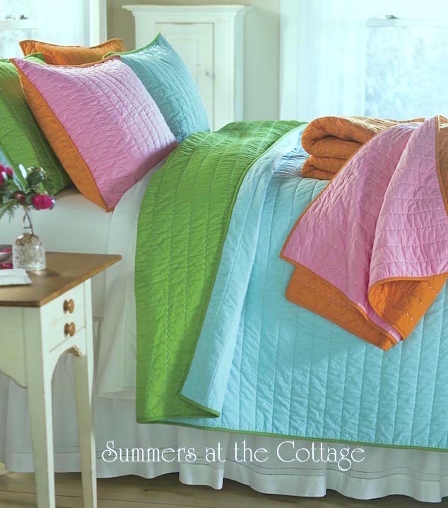 Aqua turquoise lime green bedding
