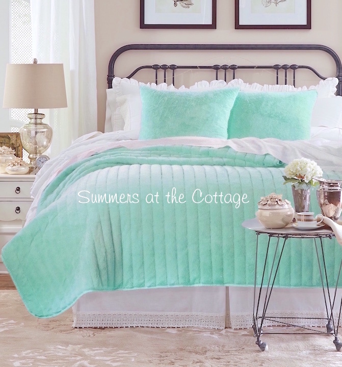 Romantic Beach Chic Cottage Quilt