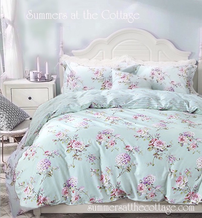 Aqua Blue Mist Duvet Set