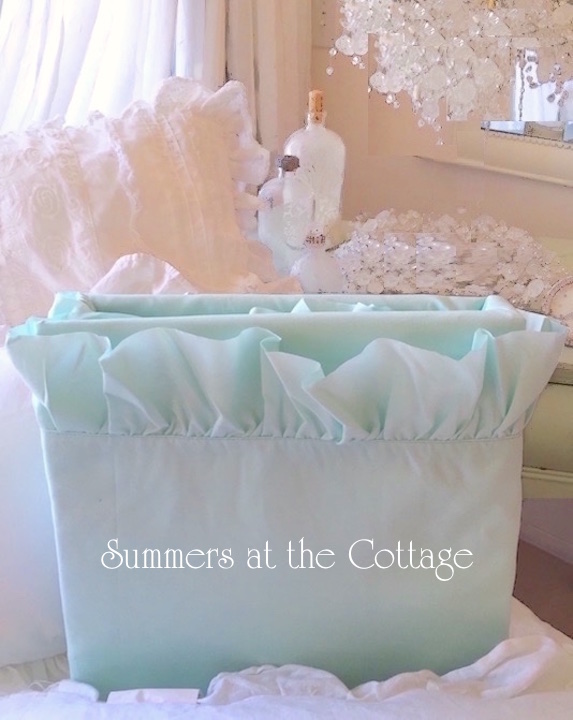 Aqua Surf Ruffle Sheet Set Pool Blue Seaglass