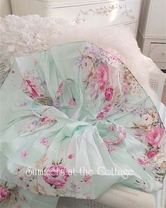Mint Ruffle Pink Roses Pillow Cases