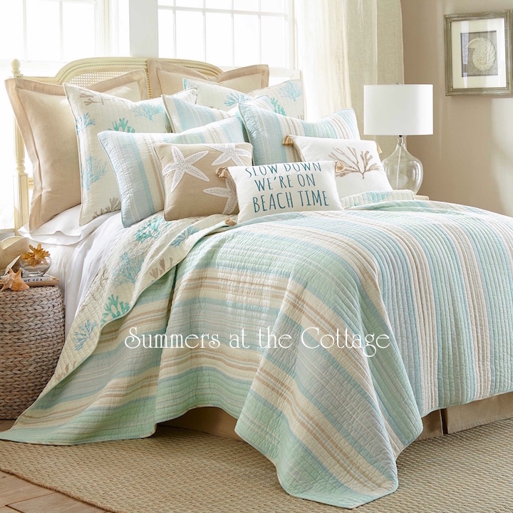Sea Glass Aqua Reef Bedding