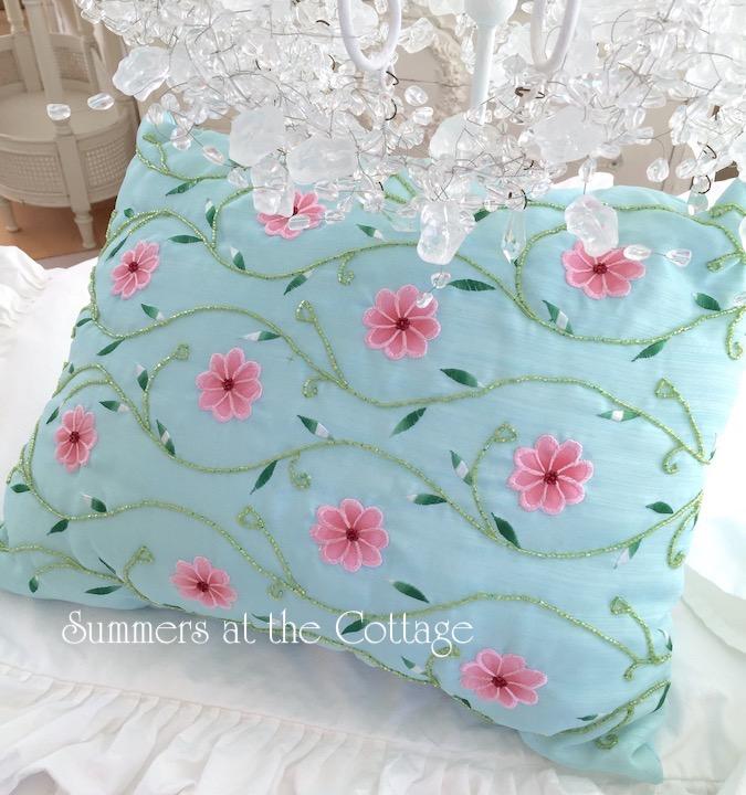 Aqua Blue Beach Swim Pillow