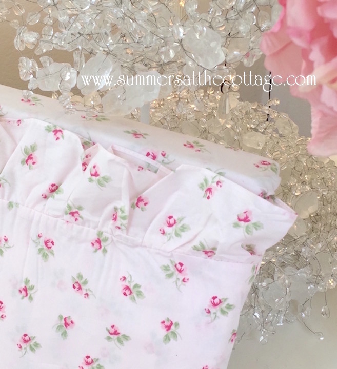 Cottage Rose Ruffled Sheet Set