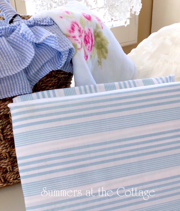 Queen Coastal Blue Stripe Sheet Set Beach House