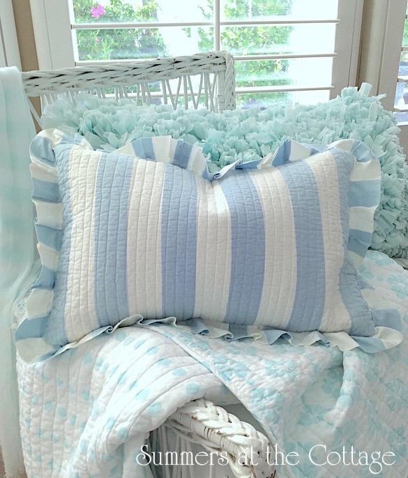 Seaside Coastal Collection Round Pillow