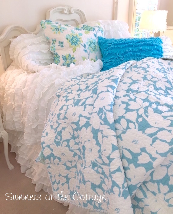 Summers House Beach Cottage Blue Bedding