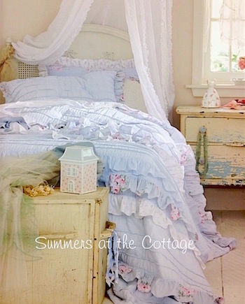 Shabby Chic Bella Blue Petticoat Bedding