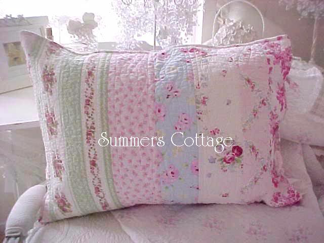 Bella Blue Cottage Roses Pillow Sham