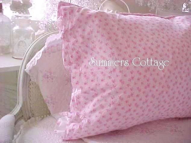 Vintage Pink Roses Pillow Sham