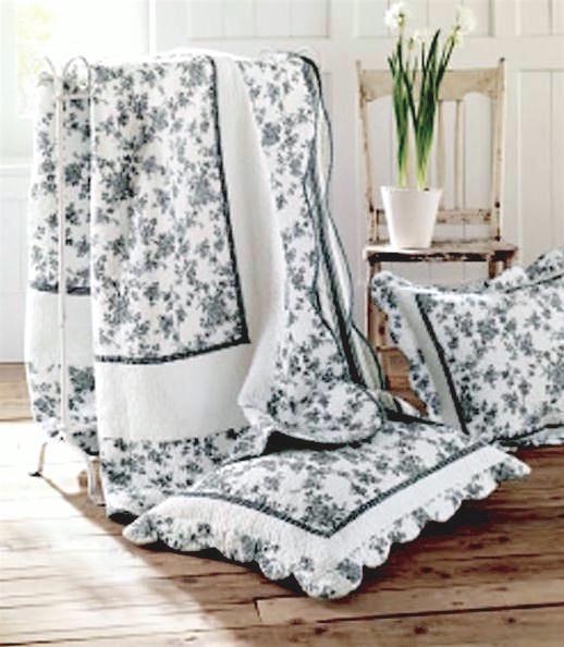 French Farmhouse Throw Quilt