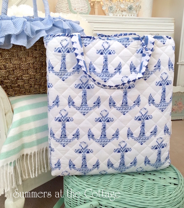 Large beach blanket and tote