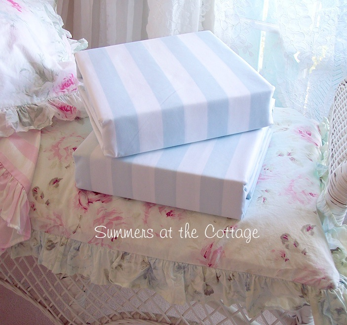 Beach House Coastal Blue Sheet Set