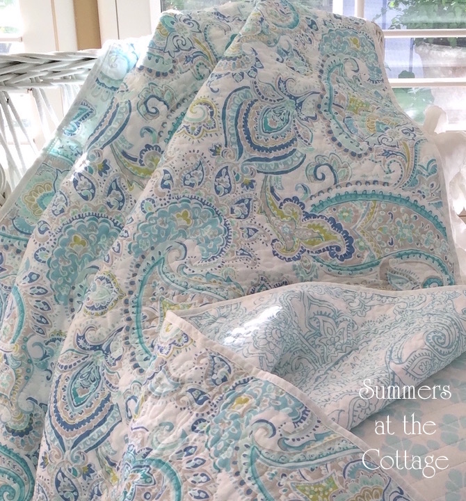 Blue Paisley Aqua Sea Glass Colors Bedding