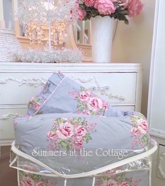 Floral Blue Queen Bedding