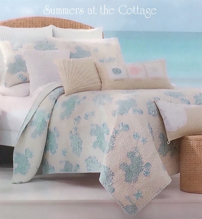 Sea Glass Blue Reef Bedding