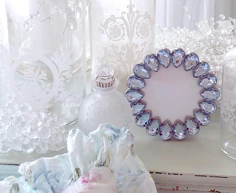 Shabby Chic Blue Jeweled Frame