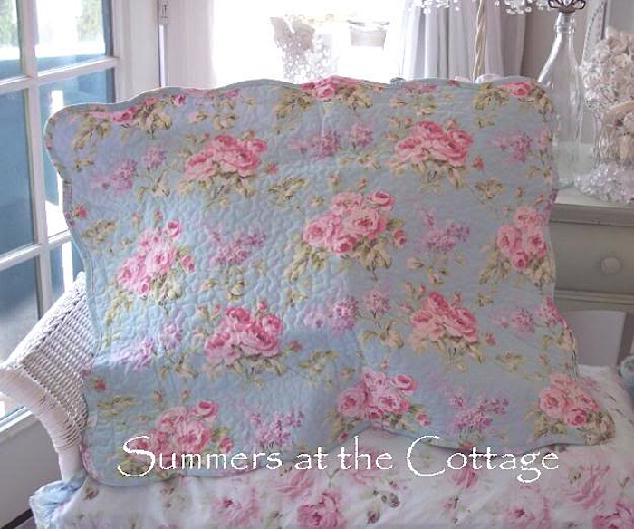 Victoria Hill Aqua Blue Pink Roses