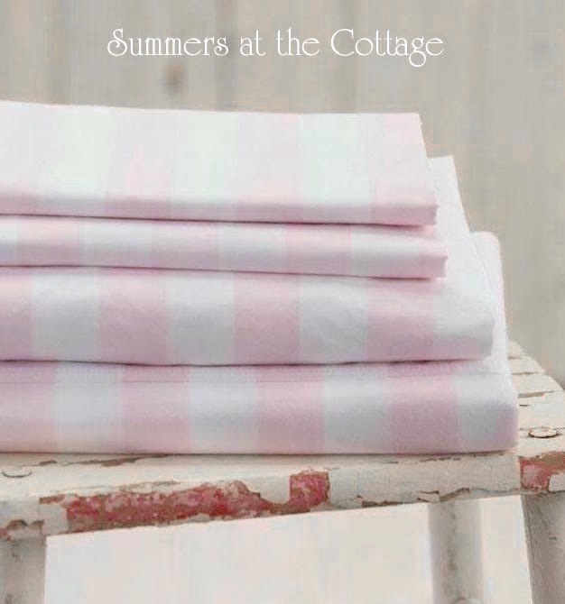 Cabana Stripe Pink White Sheet Set