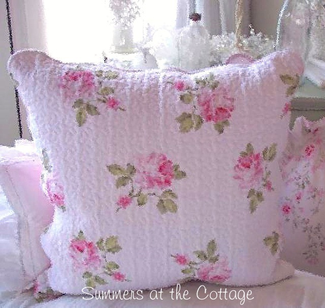Pink Cabbage Roses Pillow