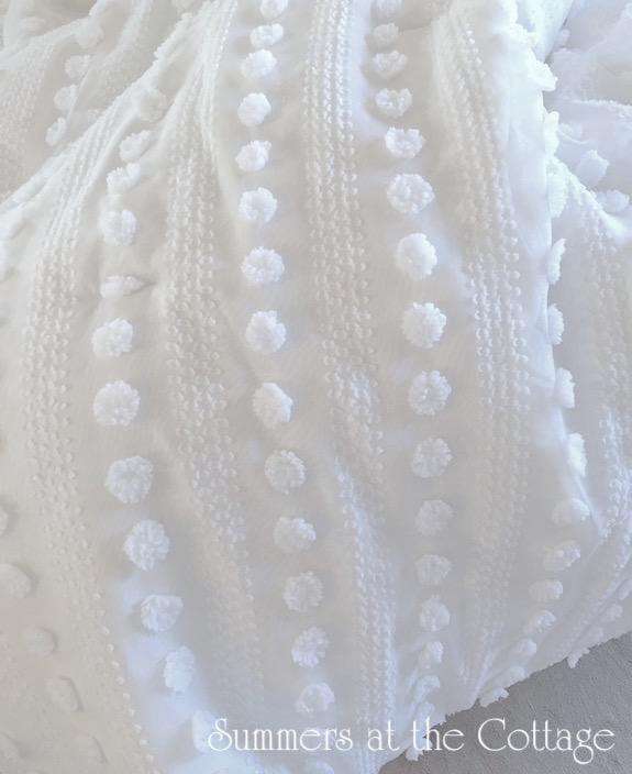 White Popcorn Chenille Bedspread