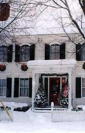 Snowy White Cottage Inn