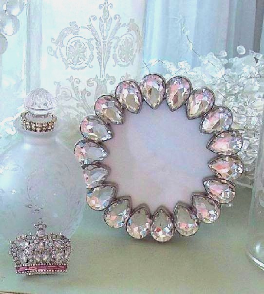 Shabby Chic Crystal Clear Jeweled Frame
