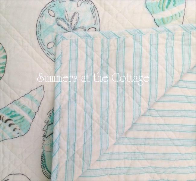 Aqua Blue Sea Life Seashells Bedding