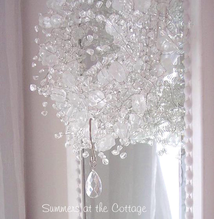 Romantic Shabby Crystal Chandelier Teardrop Shower Curtain