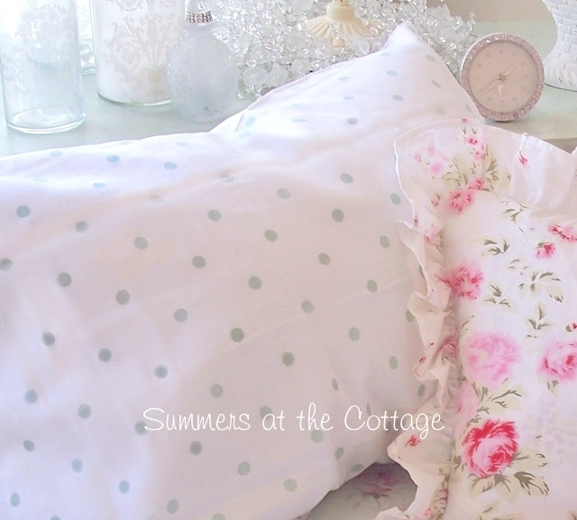 Mint Green Polka Dot Sheet Set