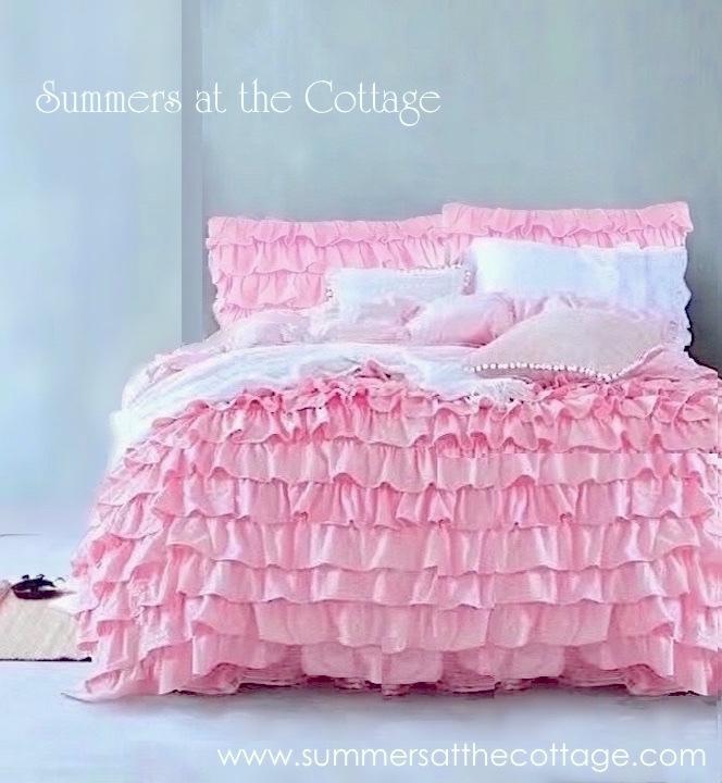 Romantic Pink Ruffled Bedding