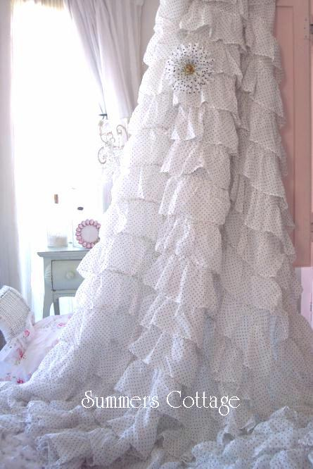 Dreamy Ruffles Shower Curtain