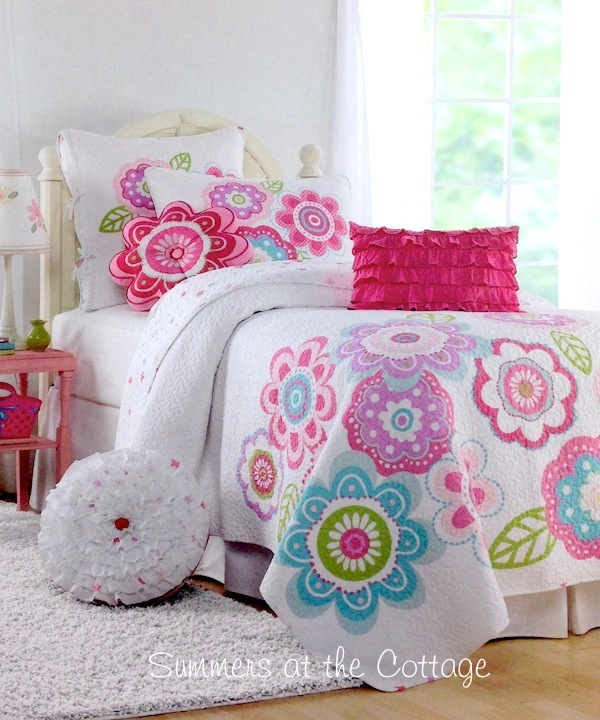 Very best Shabby Cottage Chic Bedding Twin Quilts Comforter Rag Quilt  OI23