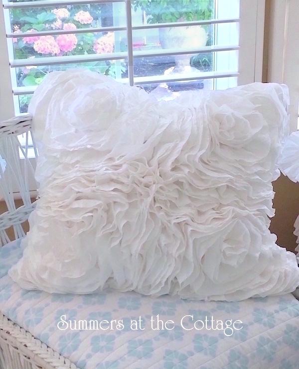 Roses Ruffles Pillow