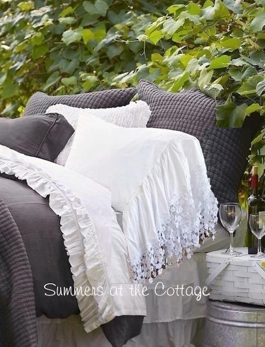 Pretty French Ruffle Pillowcases