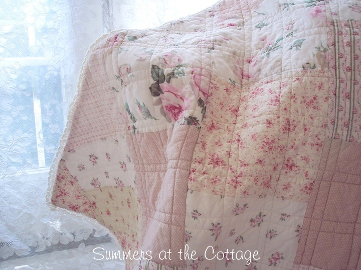French Country Patchwork Cottage Roses
