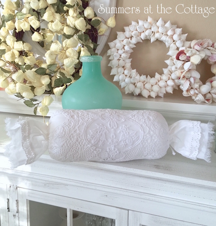 French Chantilly Lace Netting Pillow