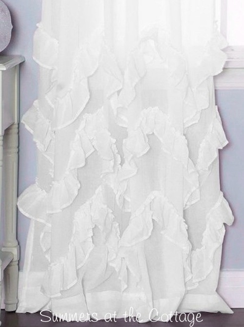 French White Ruffles Curtain