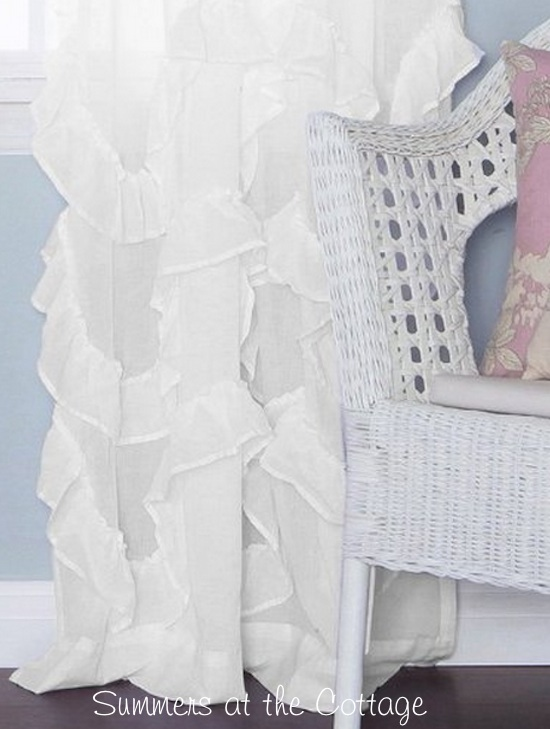 White Ruffles Curtain