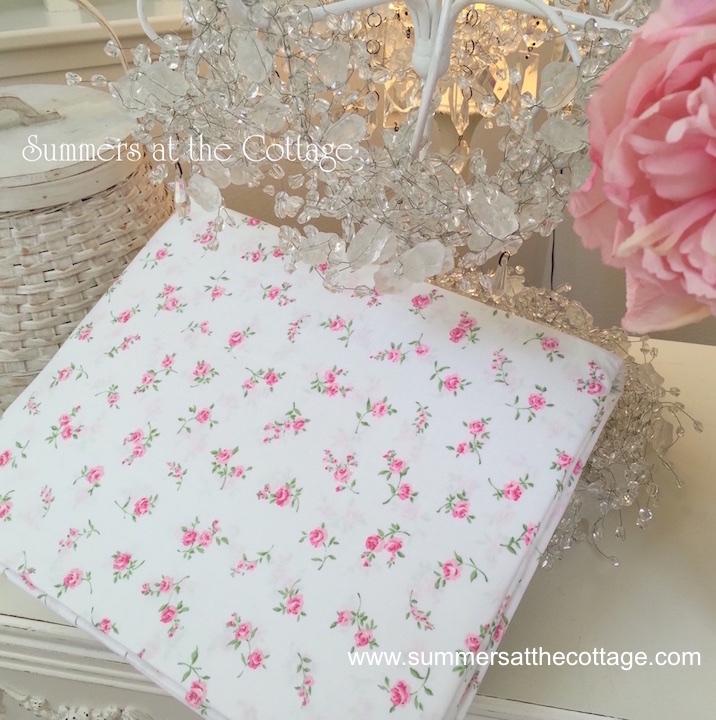 Summers Cottage Pink Roses Rosebuds Sheets