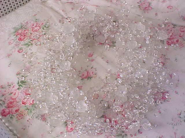 Christmas tree crystal beaded garland