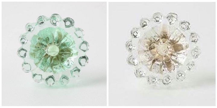Glass Flower Knobs
