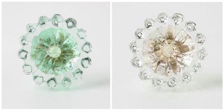 Glass Flower Knobs
