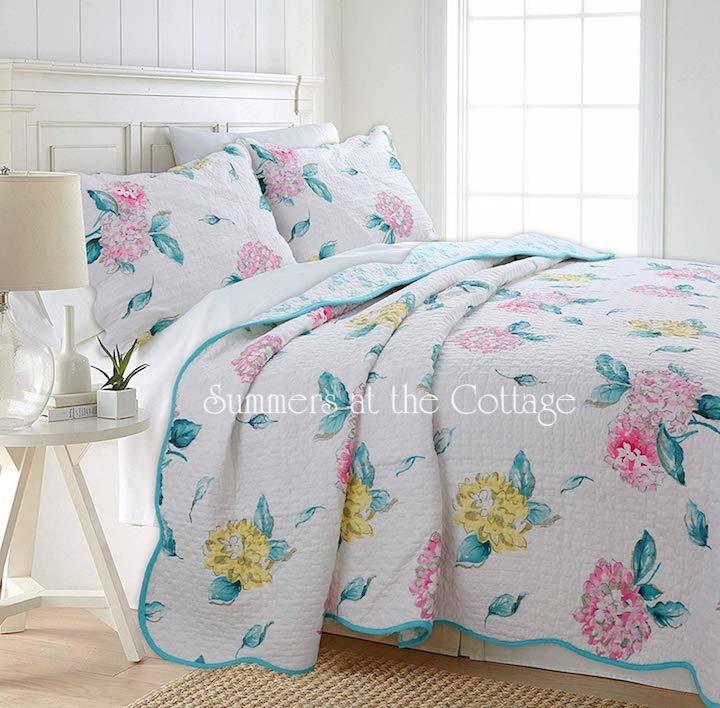 Hamptons Hydrangea Quilt Set