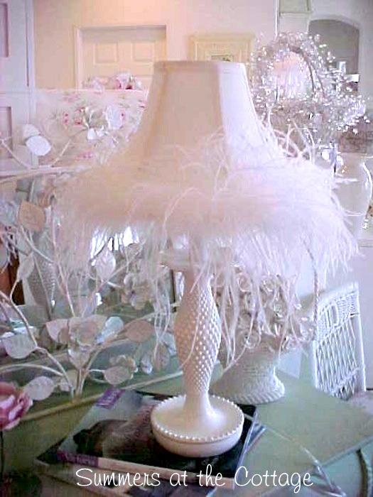 Rachel Ashwell Shabby Chic White Hobnail Lamp