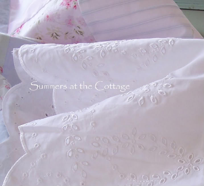 White Eyelet Lace Sheets
