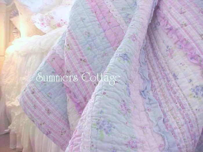 Lavender Blue Ruffled Quilt