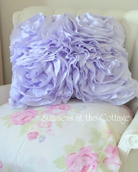 Lavender Ruffled Pillow