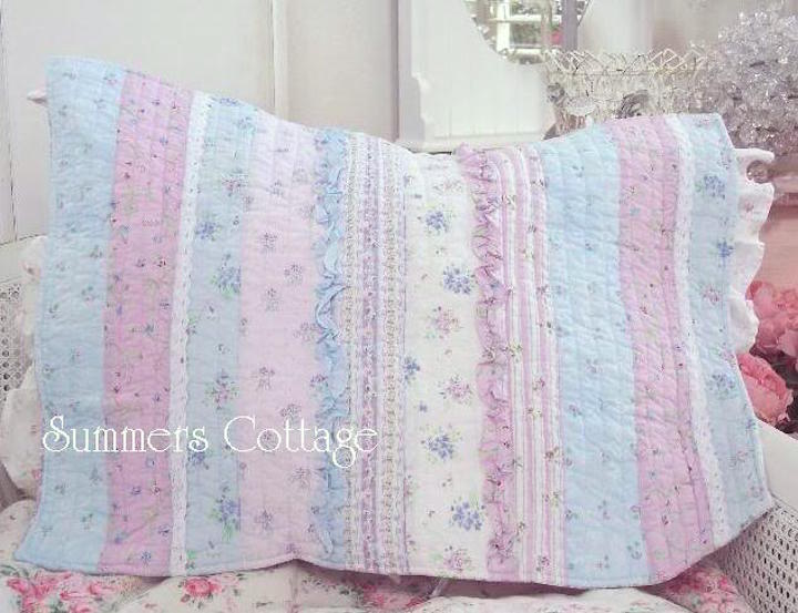 Lavender Blue Ruffles Pillow Sham